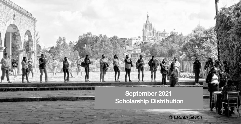 Sept 2021 scholarship distribution